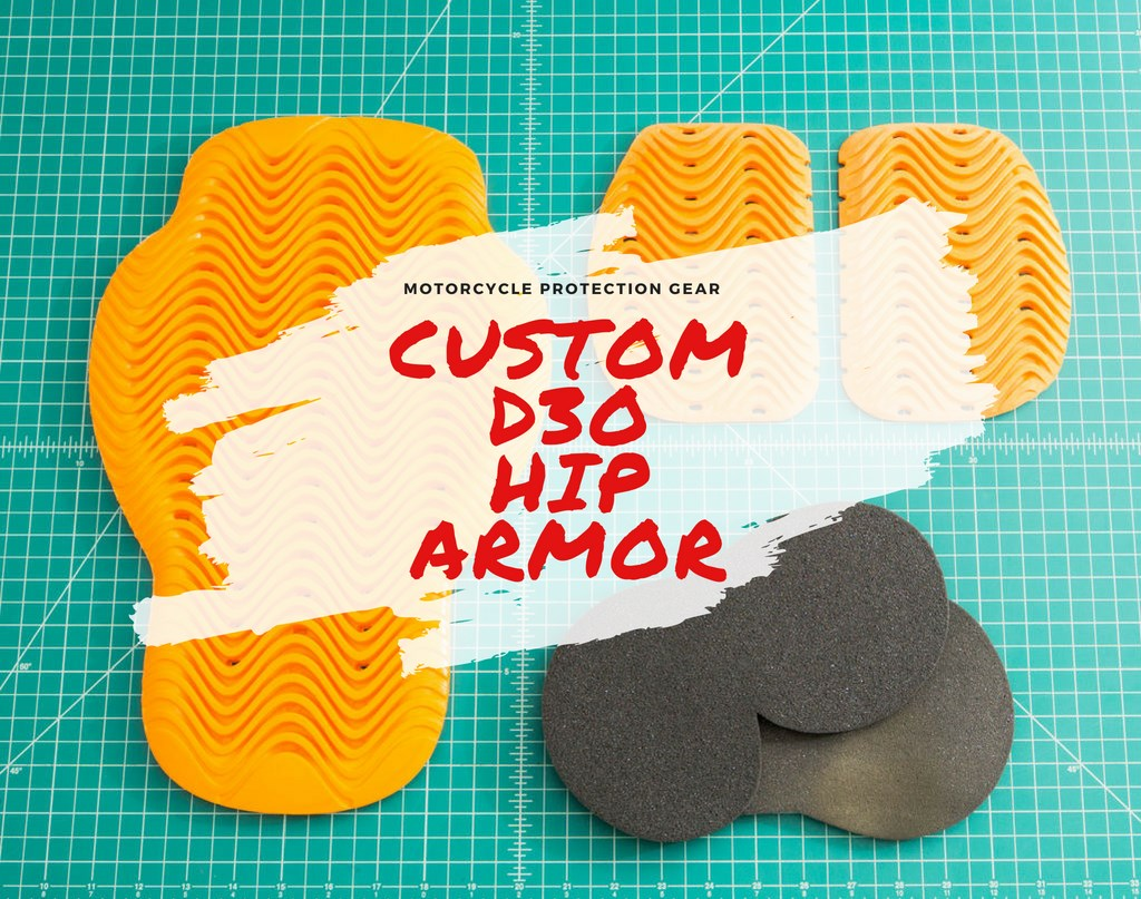 Custom motorcycle hip armor with D3O