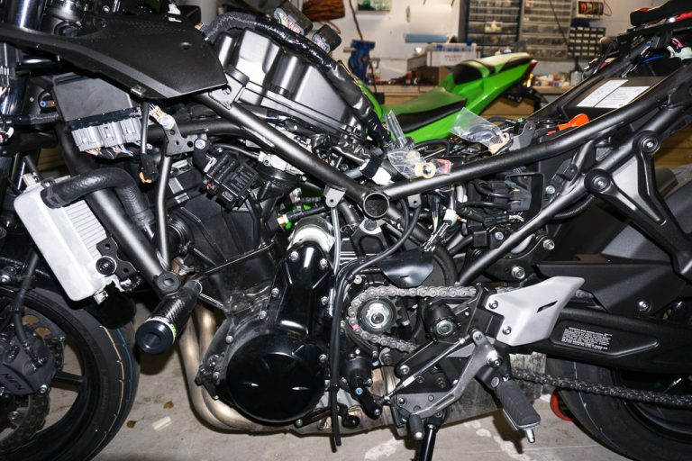 As you can imagine by the length of my Kawasaki Ninja 650 mods list, my bike has spent a lot of time in pieces...
