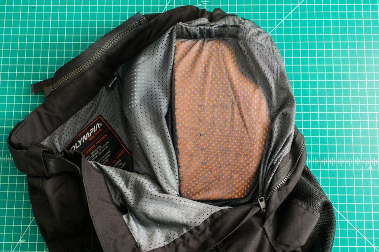 Test your custom motorcycle hip armor armor in your riding pant's pocket.