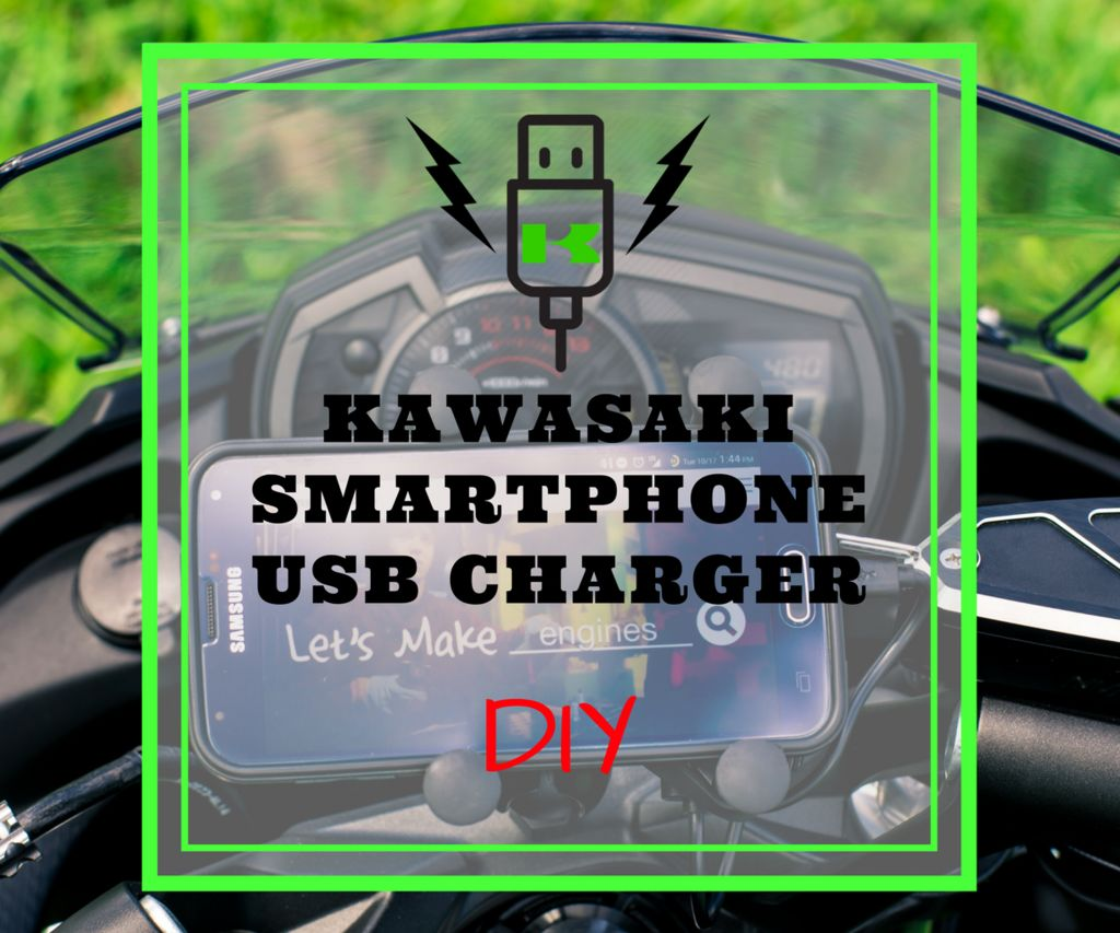 Kawasaki Motorcycle USB Charger for Phones & GPS