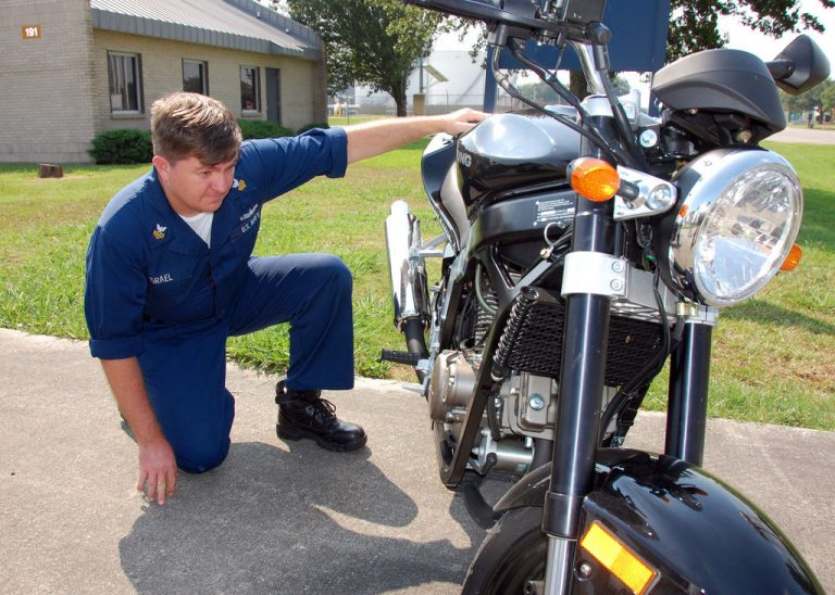 Meet in a public parking lot, and let the buyer inspect the bike at their leisure. It's stressful enough to be buying a used motorcycle to on top of that have someone hassling you.