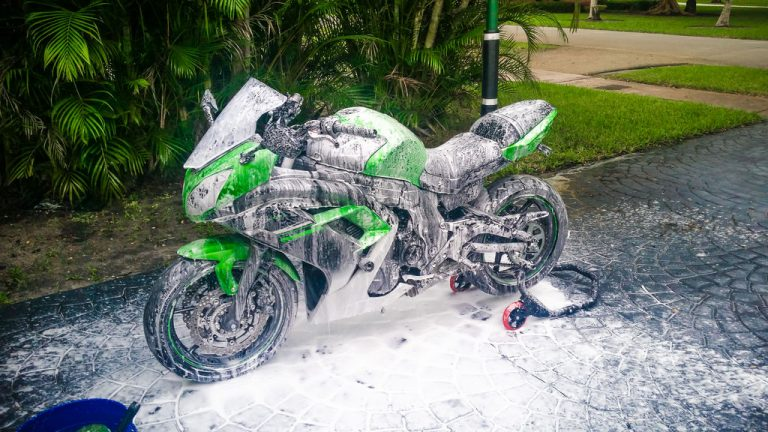 Boy, do I love washing vehicles with the foam gun! Nothing matters more regarding how to sell a used motorcycle than looks.