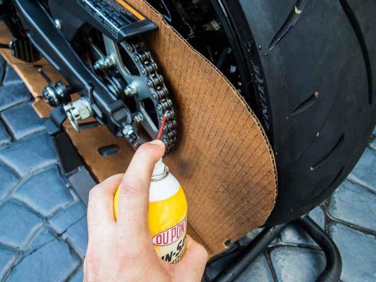 Any time the bike's chain gets soaking wet - like during motorcycle detailing - you should lube it to avoid damage.