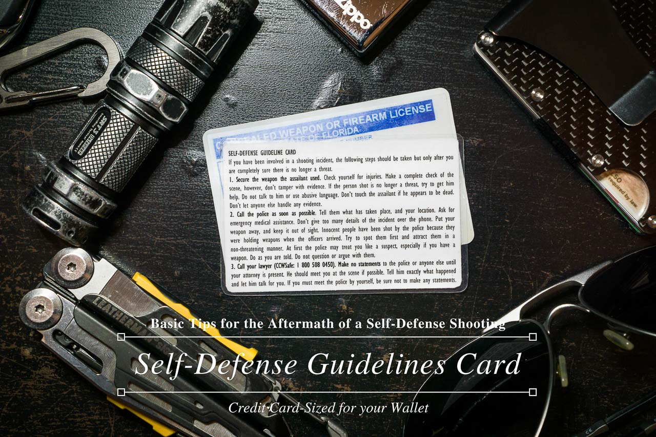 Self-Defense Guidelines Card - Title Thumbnail