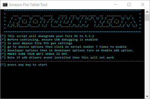 Open the RootJunky Firmware Downgrade SuperTool.