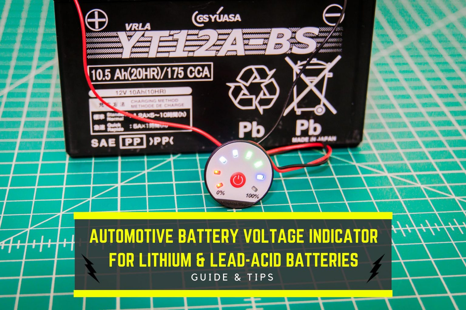 Automotive Battery Voltage Indicator Guide Lithium Lead Acid