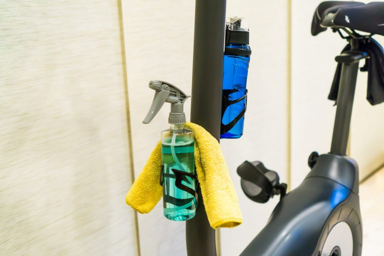 Wiping down your machine with a disinfectant and cleaning spray after exercising is a habit worth keeping.