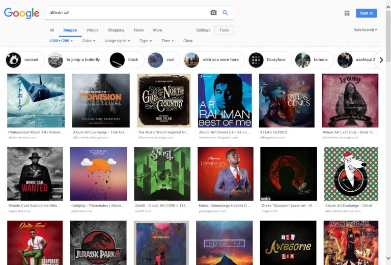 Tips & Tricks for Assigning Album Cover Art to your Music Library - Image Search