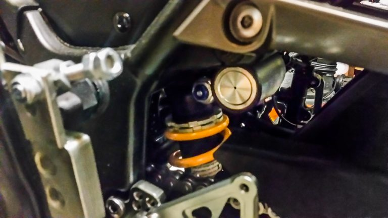One cool upgrade that's easier to pull off than you'd think is installing a GSX-R's rear suspension.