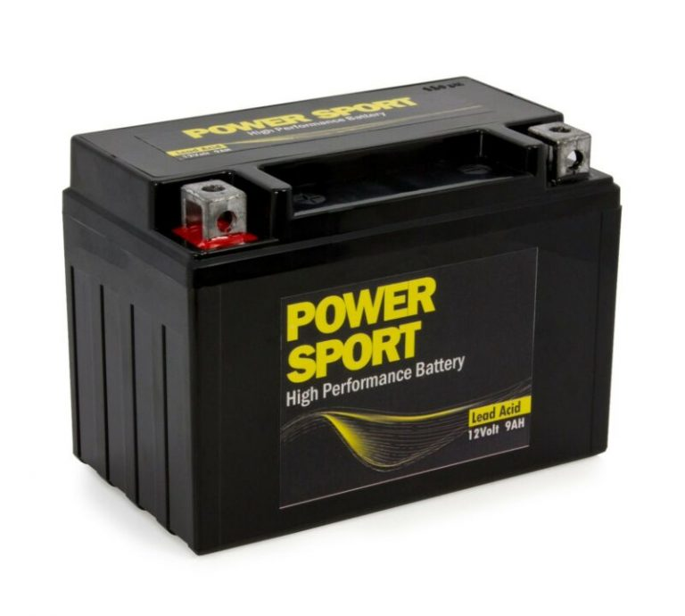 YTX9-BS Sealed Lead-Acid Motorcycle Battery for the Kawasaki Ninja 300 motorcycle.
